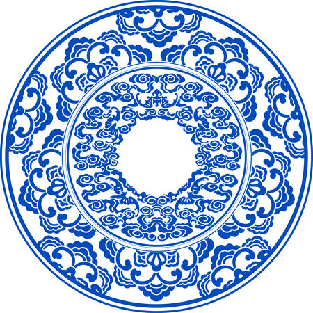 blue and white pattern Banco de Imagens - 29655141