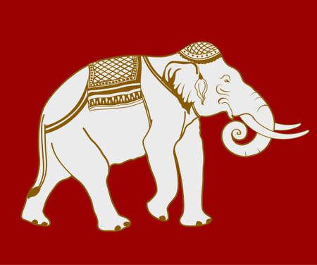 siluetas de elefantes: Ilustración de elefantes tailandeses. Vectores