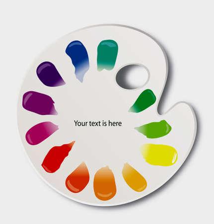paleta de colores paleta de color con rueda de color vectores