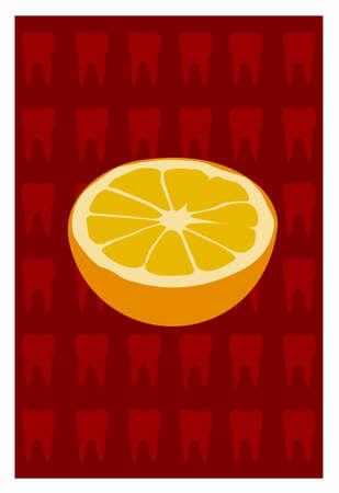 Naranja sobre fondo rojo Foto de archivo - 31078829
