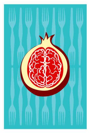wholesome: pomegranate Illustration