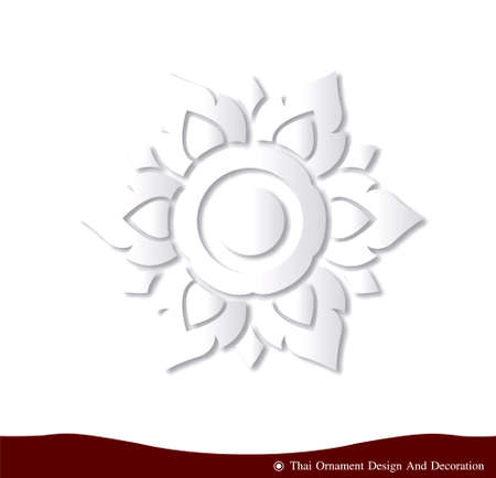 3 dimensional: vector Thai ornament design card paper three dimension  Illustration