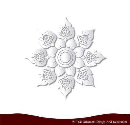 india 3d: Vector of Thai ornament design card paper three dimension