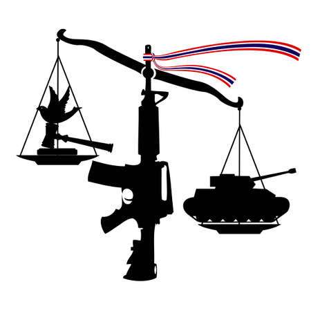injustice: Scale of Unfairness (coup by judiciary), Vector, Illustrator
