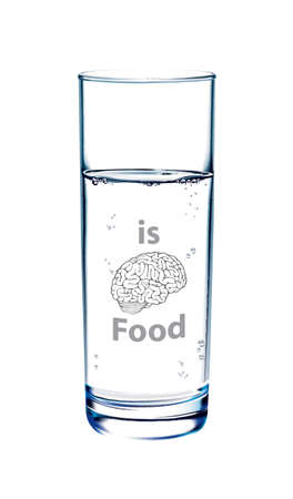 drinkable: Vector of water is Brain food, Drink and food Brain healthy concept.
