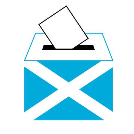 voting ballot: etiqueta de votaci�n (voto s�mbolo, icono voto, urna, mano puso una balota de votaci�n en una ranura de la caja), Vector,