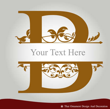 Vector of Letter B in the old vintage style. ABC concept type as icon. Typography design 일러스트