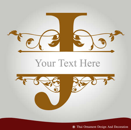 letter j: Vector of Letter J in the old vintage style. ABC concept type as icon. Typography design Illustration