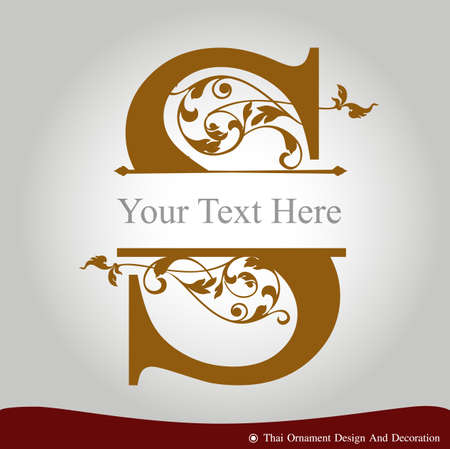 Vector of Letter S in the old vintage style. ABC concept type as icon. Typography design