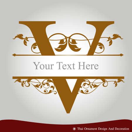 Vector de la letra V en el estilo de época antigua. ABC tipo de concepto como icono. El diseño de la tipografía