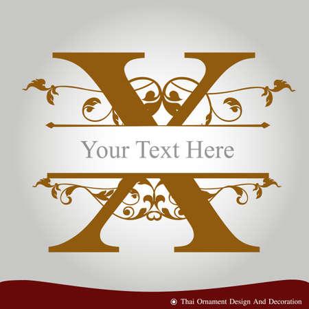 letras de oro: Vector de la letra X en el estilo de época antigua. ABC tipo de concepto como icono. El diseño de la tipografía Vectores