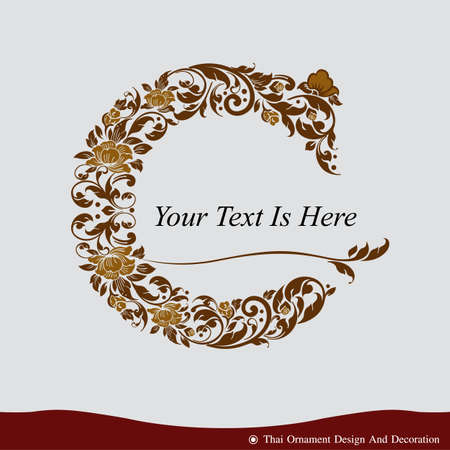 type: Vector of Letter C in the old vintage style. ABC concept type as icon. Typography design