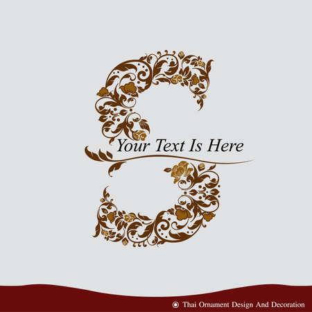 Vector der Buchstabe S in der alten Vintage-Stil. ABC-Konzept Typ als Symbol. Typografie Design Standard-Bild - 38740069