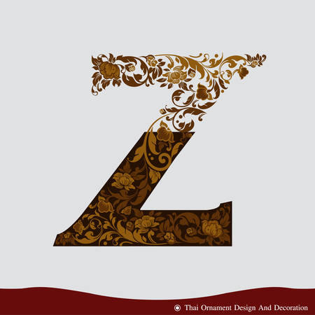 Vector of Letter Z in the old vintage style. ABC concept type as icon. Typography design Illustration