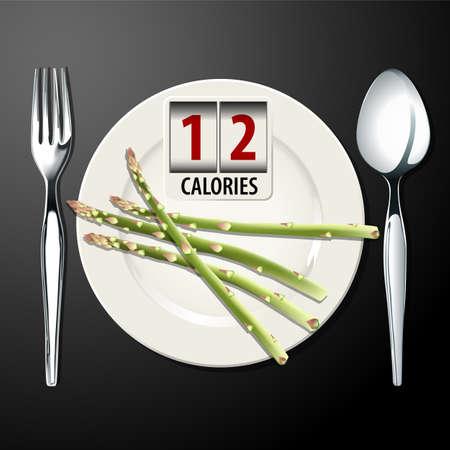 calories: Vector of Calories in Asparagus
