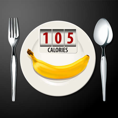 Vector of Calories in Banana