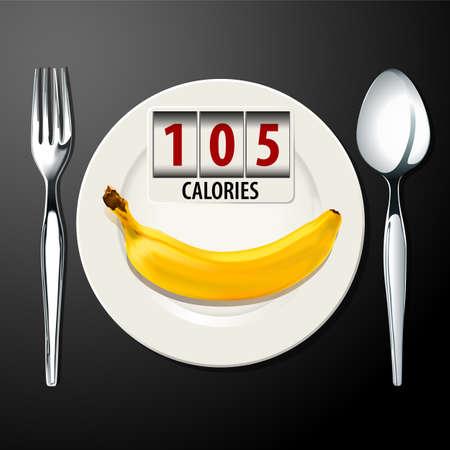 calories: Vector of Calories in Banana