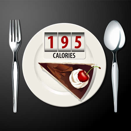 Vector of Calories in Black forest cake