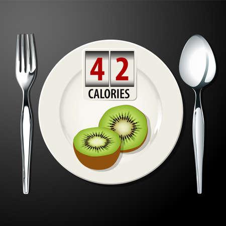 calories: Vector of calories in kiwi