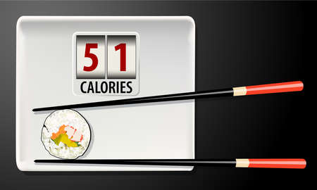 calories: Vector of Calories in Sushi