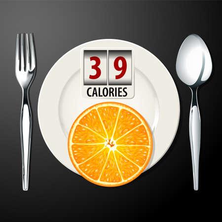 calories: Vector of Calories in Orange