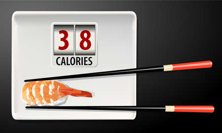 the calories: Vector of Calories in Sushi
