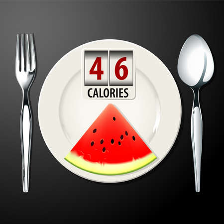 Vector of Calories in Watermelon Illustration