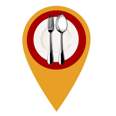 Restaurant location mark. Vector Illustration. Vector