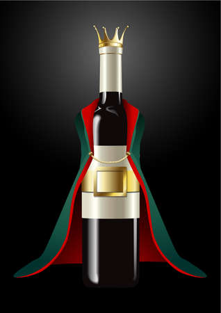 nobleman: Vector of Wine Bottle in Prince Cloth