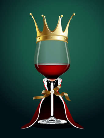 nobleman: Vector of Wine glass in Princess Cloth