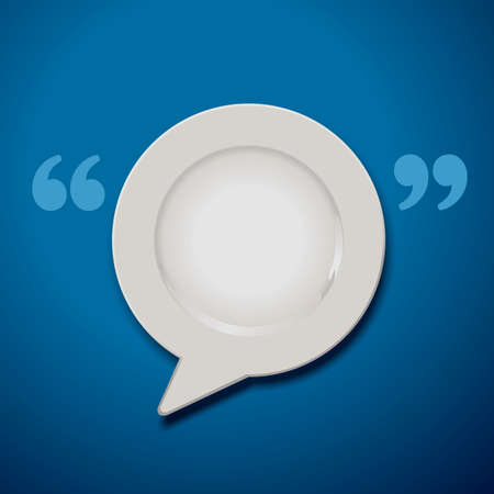 quotation: Vector of Quotation Marks Speech Plate Icon Illustration