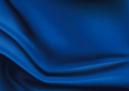 blue silk: Vector of Blue silk fabric background