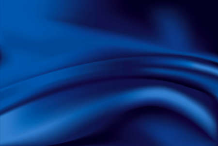 black and blue: Vector of Blue silk fabric background