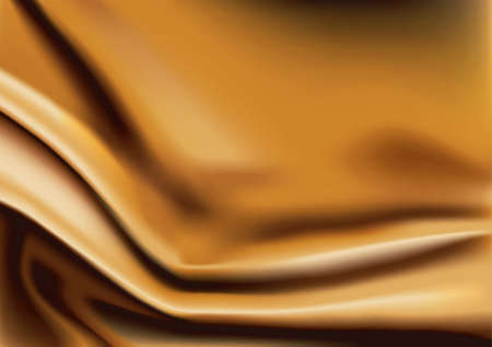 Vector of Gold silk fabric abstract background Vector