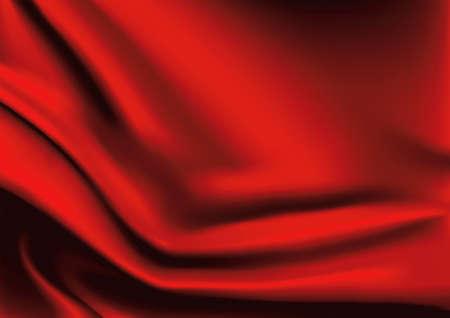 red velvet: Vector of Red silk fabric background