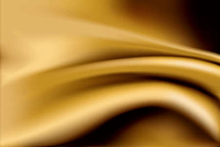 gold fabric: Vector of Gold silk fabric abstract background