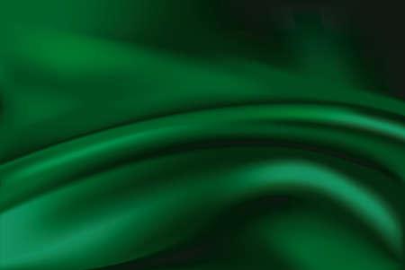 silk fabric: Vector de tela de seda verde resumen de antecedentes Vectores