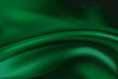 drape: Vector of Green silk fabric abstract background Illustration