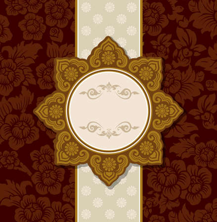 Vector of Thai Ornament Pattern Design Illustration
