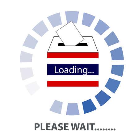 democracia: Vector de Tailandia etiqueta voto Democracia (símbolo voto, icono votación, urnas, mano poniendo una papeleta de votación en una ranura de la caja). ESPERE TAILANDIA Concepto Vectores