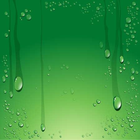 Vector van water druppels achtergrond Stock Illustratie