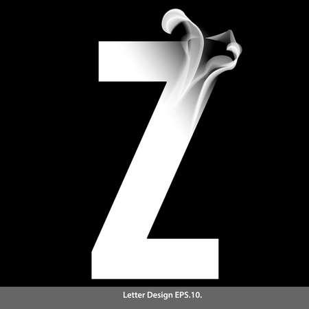 letter z: Letter Z with smoke waves.Vector illustration. Illustration