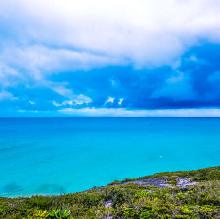 Cloudy sky over turquoise ocean, Turks and Caicos Islands Reklamní fotografie