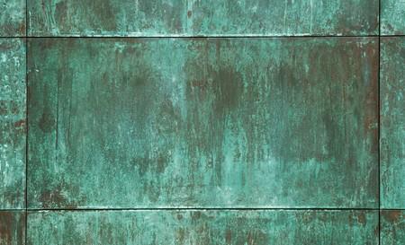 vert de cuivre plaque de texture
