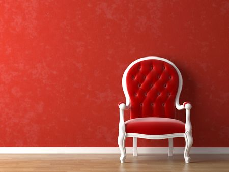 colorfully: red and white interior design with minimal elements