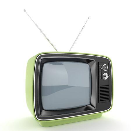 Green retro TV  photo