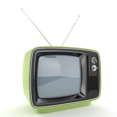 outmoded: Green retro TV