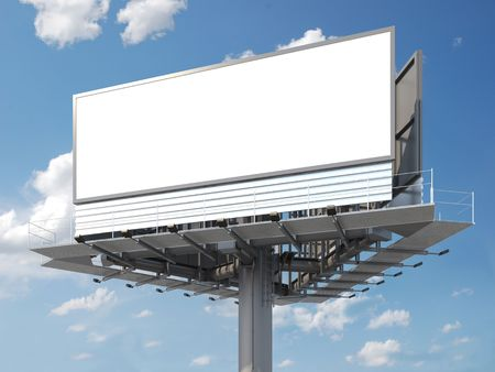 Big empty billboard ready for your image or text photo