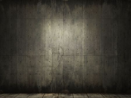 abandoned warehouse: grunge background of an interior concrete room