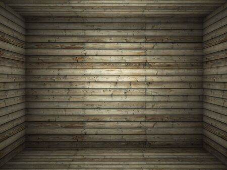 interior scene of a wooden room made of boards for use as background Stock Photo - 6356083